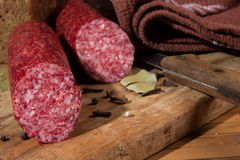 Still life with  sausage Royalty Free Stock Photo