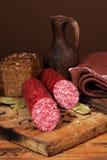 Still life with  sausage Stock Photos