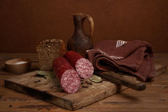 Still life with  sausage Stock Photo