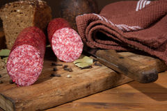 Still life with  sausage Royalty Free Stock Images