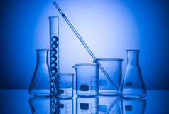 Still life with scientific glassware Stock Images