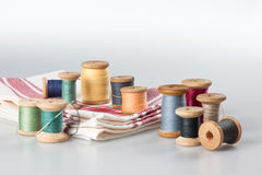 Still life with sewing items Royalty Free Stock Photography