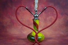 Still life shisha equipment heart shape hose Stock Photo