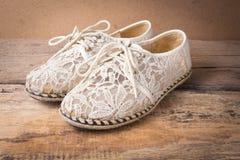 Still life of shoe on wood Royalty Free Stock Photo