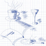 Still life sketch Royalty Free Stock Photography