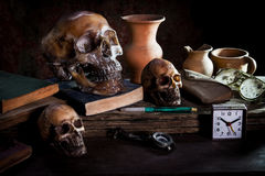 Still Life with Sku and l book Royalty Free Stock Photography