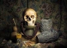 Still Life. With a Skull Stock Photo