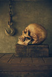 Still Life with a Skull. Stock Images