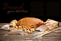 Still life of sliced bread Stock Photos