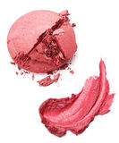 Still life of a smear of lipstick and blush Stock Photos