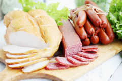 Still life of smoked meat Stock Images