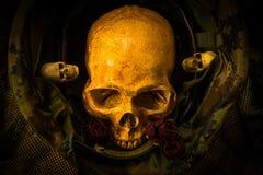 Still life soldier skull Royalty Free Stock Photos