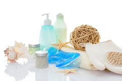 Still life with spa products Royalty Free Stock Photography