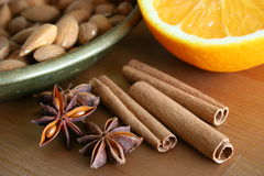 Still life with spice Stock Photography