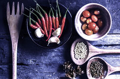 Still life with spices for cooking. Royalty Free Stock Image