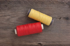 Still life of spools of thread Stock Images