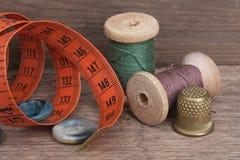 Still life of spools of thread Stock Image
