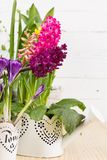 Still life with spring flowers Royalty Free Stock Photo
