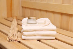 Still life of a steam bath-room accessories Royalty Free Stock Photos
