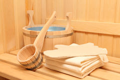Still life of a steam bath-room accessories Stock Images