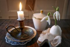 Still Life, Still Life Photography, Candle, Tableware Royalty Free Stock Photos