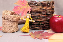 Still-life with straw dolls Stock Image
