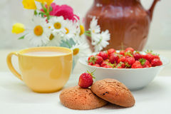 Still life with strawberries Stock Image