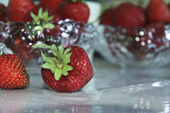 Still life with strawberries Royalty Free Stock Image