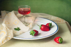 Still life with strawberry Stock Image