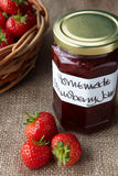 A still life of strawberry jam Royalty Free Stock Images