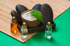 Still-life subjects of relaxing spa Stock Photos