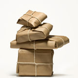 Still-life with subjects wrapped. Up in a paper Royalty Free Stock Photo