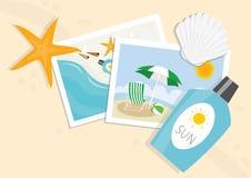 Still life on summer beach Royalty Free Stock Photos