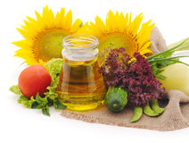 Still life with sunflowers. Royalty Free Stock Photography