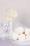 Still life  with sweet marshmallows Stock Image