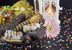 Still life with sweets Royalty Free Stock Images