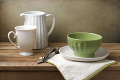 Still life with tableware Royalty Free Stock Image