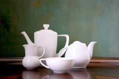 Still life of tea or coffee service Royalty Free Stock Image