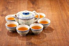 Still life of tea crockery Stock Images