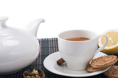 Still life with tea Stock Images