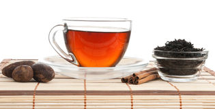 Still life of tea leaves Royalty Free Stock Photography