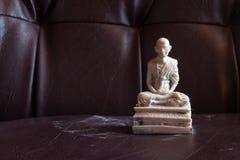 Still Life Thai Monk Marble, Kru Ba Sri Vi Chai Stock Photos