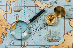 Still life with things leisure and travel Stock Images