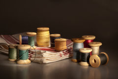 Still life with thread spools Stock Image