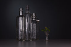 Still-life with three bottles Royalty Free Stock Photo
