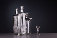 Still-life with three bottles Stock Images