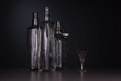 Still-life with three bottles Stock Photo