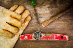 Still life of tools Stock Photo