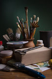Still life with tools and materials for decoupage Stock Photo