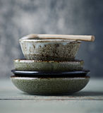 Still Life with Traditional Japanese Ceramic Stock Photos